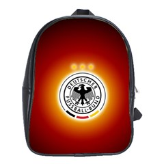 Deutschland Logos Football Not Soccer Germany National Team Nationalmannschaft School Bags (xl)  by Onesevenart
