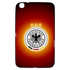 Deutschland Logos Football Not Soccer Germany National Team Nationalmannschaft Samsung Galaxy Tab 3 (8 ) T3100 Hardshell Case  by Onesevenart