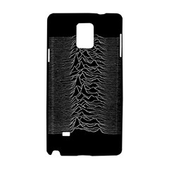 Grayscale Joy Division Graph Unknown Pleasures Samsung Galaxy Note 4 Hardshell Case by Onesevenart