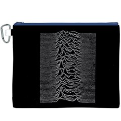 Grayscale Joy Division Graph Unknown Pleasures Canvas Cosmetic Bag (xxxl) by Onesevenart