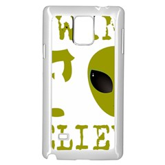 I Want To Believe Samsung Galaxy Note 4 Case (White) by Onesevenart