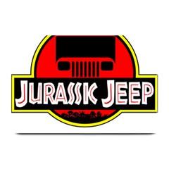 Jurassic Jeep Park Plate Mats by Onesevenart