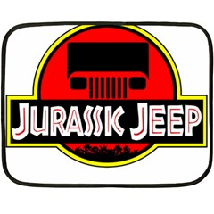 Jurassic Jeep Park Fleece Blanket (mini) by Onesevenart