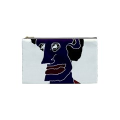 Man Portrait Caricature Cosmetic Bag (small)  by dflcprints