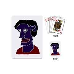 Man Portrait Caricature Playing Cards (mini)  by dflcprints