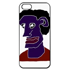 Man Portrait Caricature Apple Iphone 5 Seamless Case (black) by dflcprints