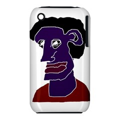 Man Portrait Caricature Apple Iphone 3g/3gs Hardshell Case (pc+silicone) by dflcprints