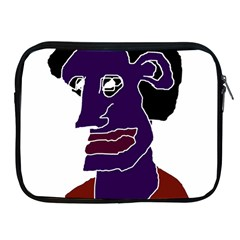 Man Portrait Caricature Apple Ipad 2/3/4 Zipper Cases by dflcprints
