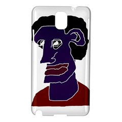 Man Portrait Caricature Samsung Galaxy Note 3 N9005 Hardshell Case by dflcprints