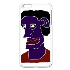 Man Portrait Caricature Apple Iphone 6 Plus/6s Plus Enamel White Case by dflcprints