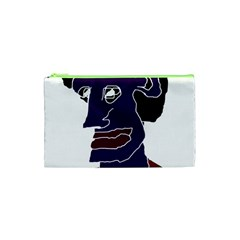 Man Portrait Caricature Cosmetic Bag (xs) by dflcprints