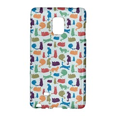 Blue Colorful Cats Silhouettes Pattern Galaxy Note Edge by Contest580383