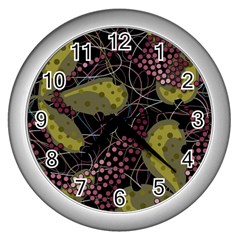 Abstract Garden Wall Clocks (silver)  by Valentinaart