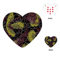 Abstract Garden Playing Cards (heart)  by Valentinaart
