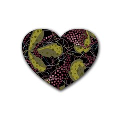 Abstract Garden Heart Coaster (4 Pack)  by Valentinaart