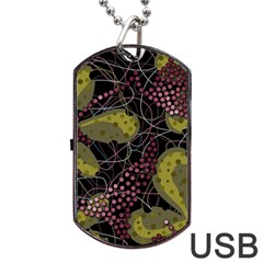 Abstract Garden Dog Tag Usb Flash (two Sides)  by Valentinaart