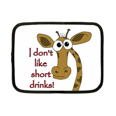 Giraffe Joke Netbook Case (small)  by Valentinaart