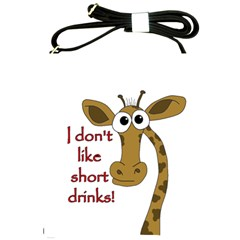 Giraffe Joke Shoulder Sling Bags by Valentinaart