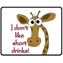 Giraffe Joke Fleece Blanket (medium)  by Valentinaart