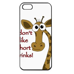 Giraffe Joke Apple Iphone 5 Seamless Case (black) by Valentinaart