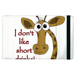 Giraffe Joke Apple Ipad 3/4 Flip Case by Valentinaart