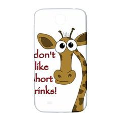 Giraffe Joke Samsung Galaxy S4 I9500/i9505  Hardshell Back Case by Valentinaart