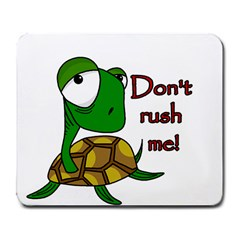 Turtle Joke Large Mousepads by Valentinaart