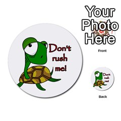 Turtle Joke Multi Purpose Cards (round)  by Valentinaart