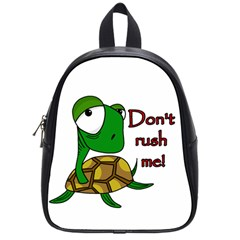 Turtle Joke School Bags (small)  by Valentinaart