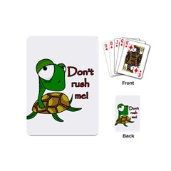 Turtle Joke Playing Cards (mini)  by Valentinaart