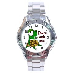 Turtle Joke Stainless Steel Analogue Watch by Valentinaart