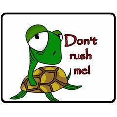 Turtle Joke Double Sided Fleece Blanket (medium)  by Valentinaart