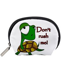 Turtle Joke Accessory Pouches (small)  by Valentinaart