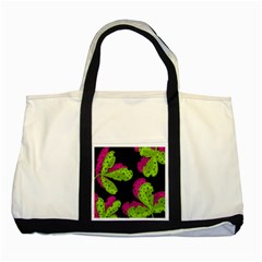 Decorative Leafs  Two Tone Tote Bag by Valentinaart