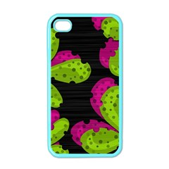 Decorative Leafs  Apple Iphone 4 Case (color) by Valentinaart