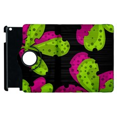Decorative Leafs  Apple Ipad 3/4 Flip 360 Case by Valentinaart