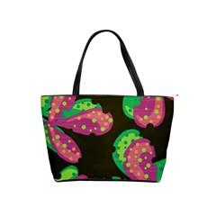 Colorful Leafs Shoulder Handbags by Valentinaart