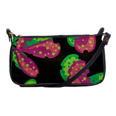 Colorful Leafs Shoulder Clutch Bags by Valentinaart