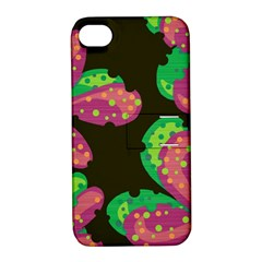 Colorful Leafs Apple Iphone 4/4s Hardshell Case With Stand by Valentinaart