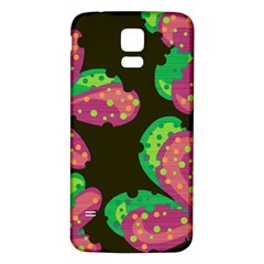 Colorful Leafs Samsung Galaxy S5 Back Case (white) by Valentinaart