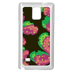 Colorful leafs Samsung Galaxy Note 4 Case (White) by Valentinaart