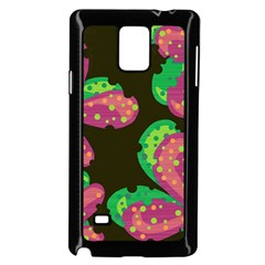 Colorful Leafs Samsung Galaxy Note 4 Case (black) by Valentinaart