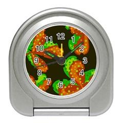 Autumn Leafs Travel Alarm Clocks by Valentinaart