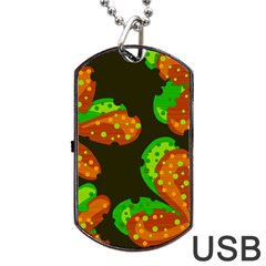 Autumn Leafs Dog Tag Usb Flash (two Sides)  by Valentinaart