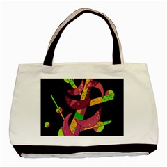Moon Tree Basic Tote Bag (two Sides) by Valentinaart