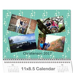 Christenson 2017 By Heather   Wall Calendar 11  X 8 5  (12 Months)   Hawwq7hd3jto   Www Artscow Com Cover
