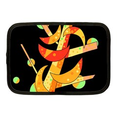 Orange Moon Tree Netbook Case (medium)  by Valentinaart