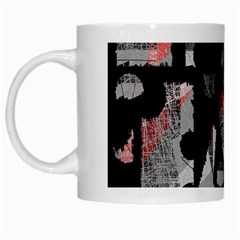 Red Shadows White Mugs by Valentinaart