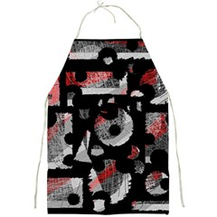 Red Shadows Full Print Aprons by Valentinaart