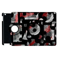 Red Shadows Apple Ipad 3/4 Flip 360 Case by Valentinaart